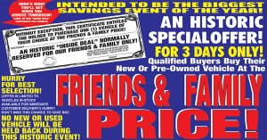 Friends & Family Deal Through Saturday Only