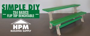 Simple DIY with HPM – 2x4 Basics Flip Top BenchTable