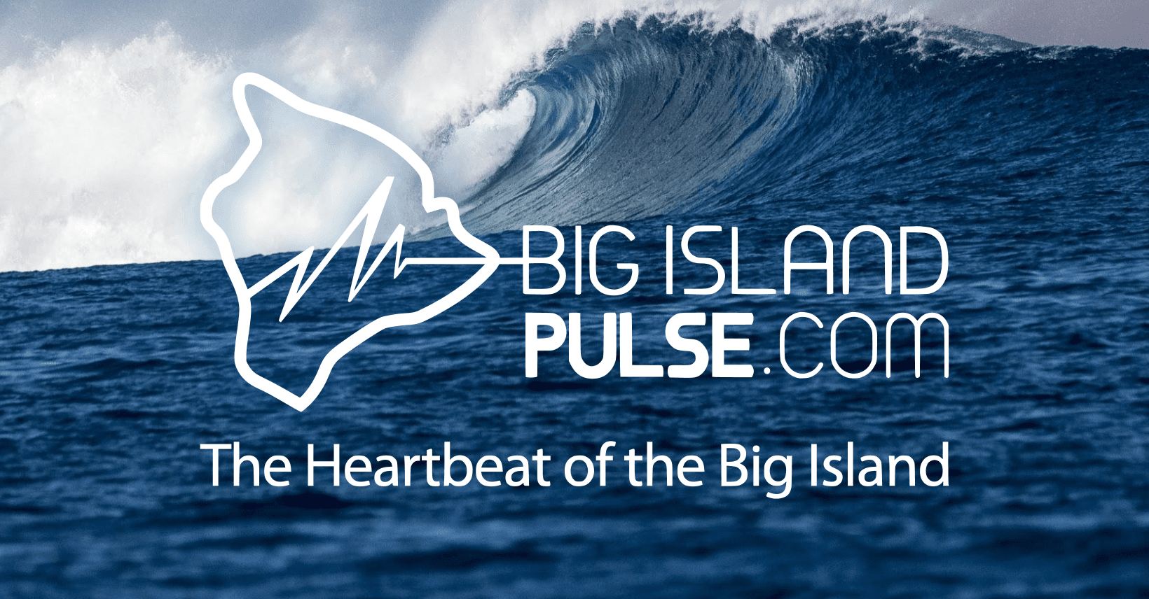 Big Island Hawaii Pulse logo on wave