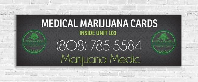 Photo of medical marijuana banner.