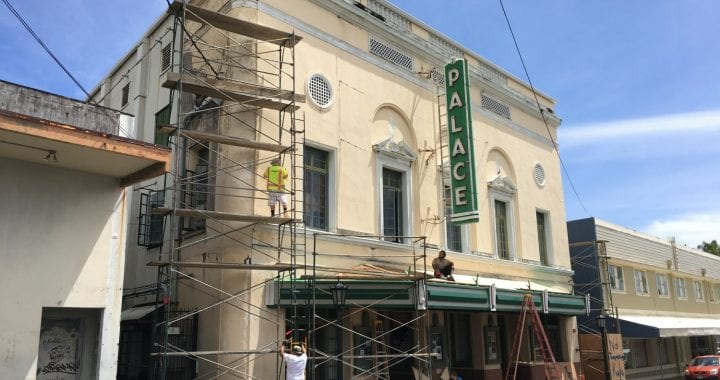 Palace theater in hilo hawaii under construction