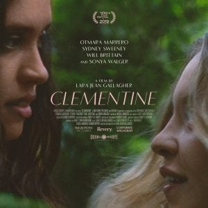 Picture of palace theater poster for movie Clementine