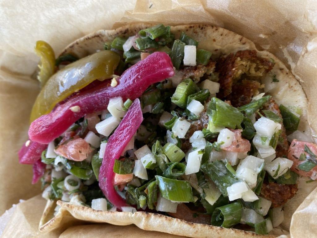 Tabaraka's falafel sandwich
