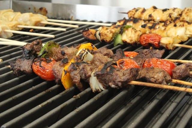 grilled meat shish kabab at Tabaraka