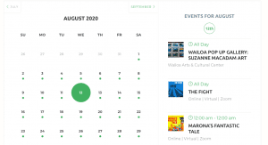 picture of Event calendar August