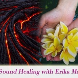 Sound Healing Reiki lava and flowers