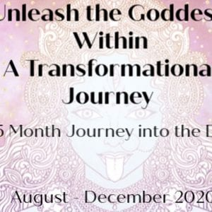 flyer for goddess jouney event
