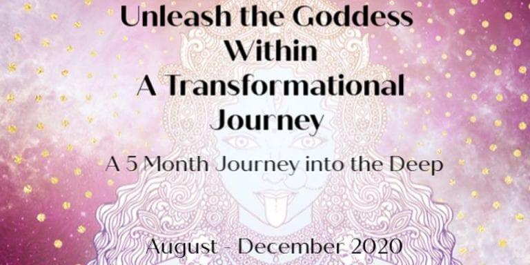flyer for goddess jouney event