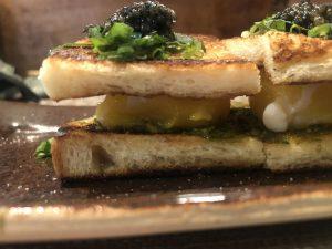 Miyo's famous eggs on toast dish
