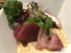 fresh fish dish from the Izakaya menu at Miyo's
