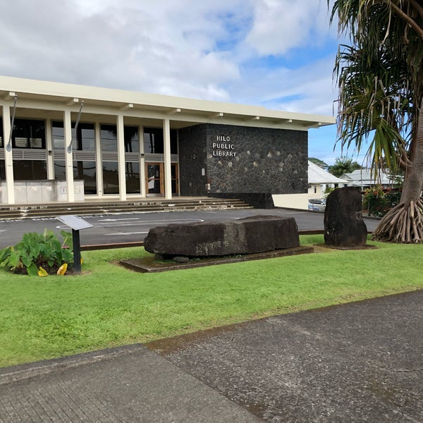 Naha Stone at Hilo Library, one of Big Island's spookiest places