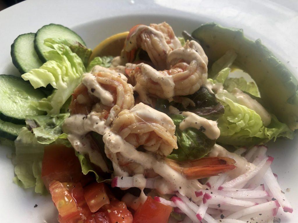 shrimp salad from Hilo Bay Cafe