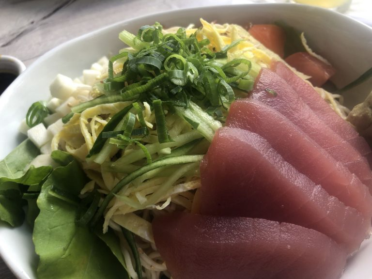 sashimi from Hilo Bay Cafe