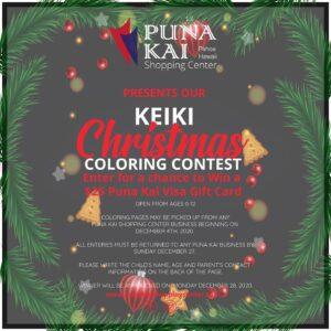 Keiki Christmas Coloring Contest