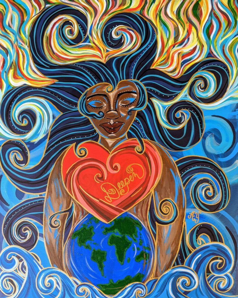 Tehom Goddess by Angela Yarber