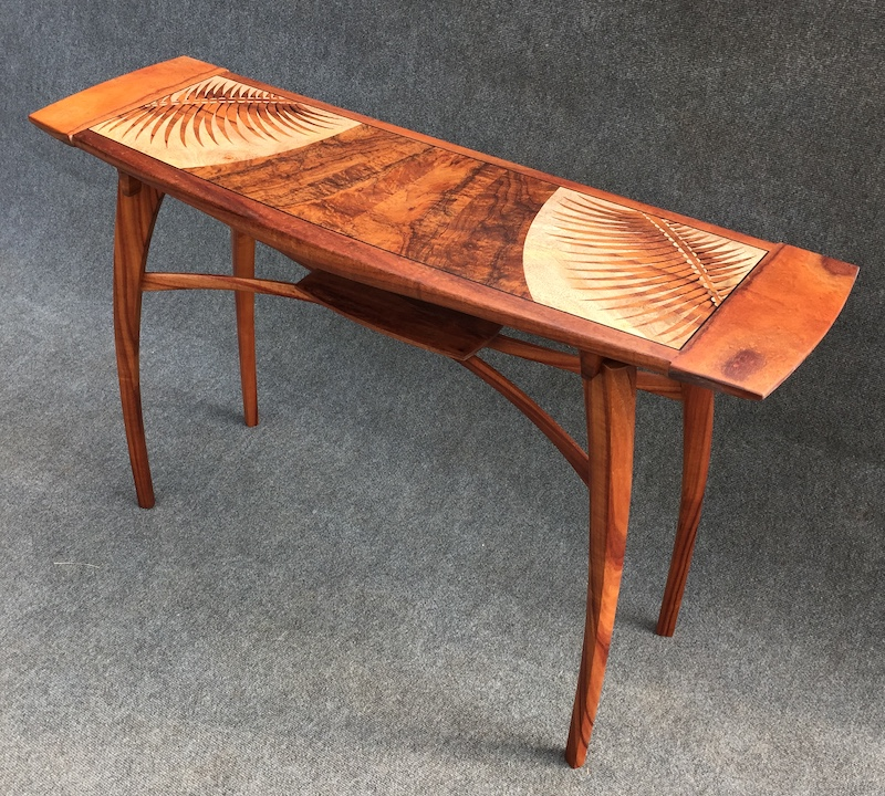 """Frondly Yours"" coffee table crafted by Tai Lake"
